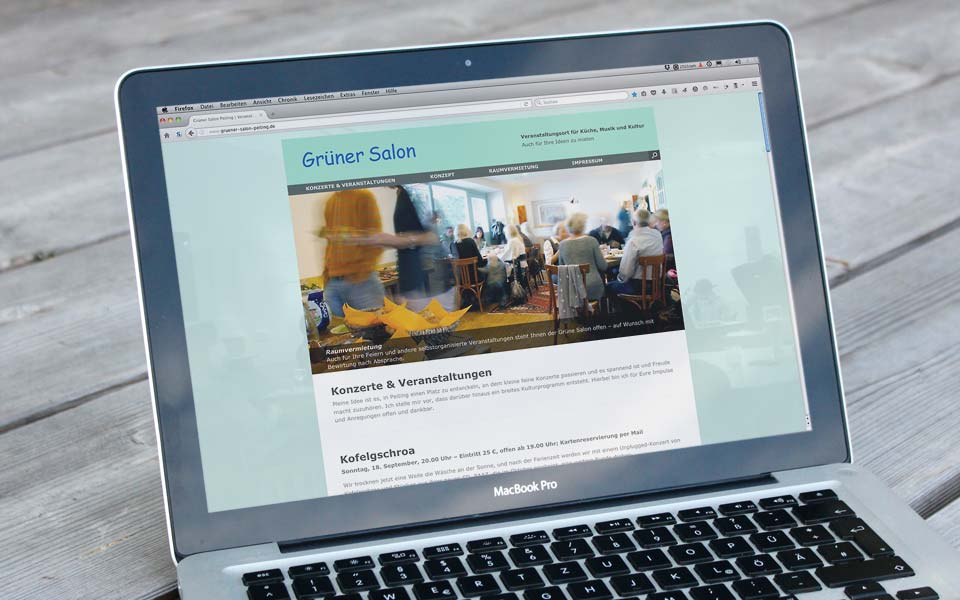 Webdesign Grüner Salon Peiting